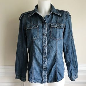 The Limited denim button up Sz M